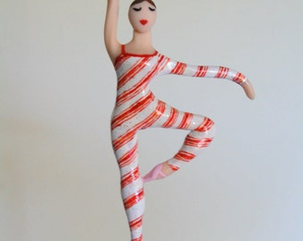 Candy Ballerina Ornament from the Nutcracker CUSTOMIZED to your costume Hand Sculpted in clay