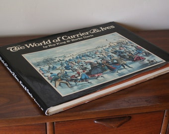 The World of Currier and Ives by Roy King and Burke Davis - Oversized Hardcover Coffee Table Book - Color Prints - Printed in Italy
