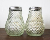 Grace Diamond Cut Glass Sugar Shakers