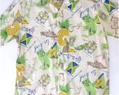 1960s Jamaican Shirt Pineapple Theme