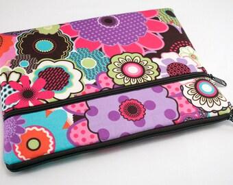iPad Pro 9.7 Case, iPad air 2 sleeve, iPad Pro Cover, Microsoft Surface Pro 4 Case, Kindle Sleeve, Fabric Tablet Ereader-Wild Flowers