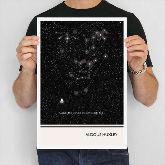 Literary Art Prints Aldous Huxley Quote Poster