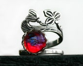 Dragons Breath Fire Opal Ring - Sterling Silver