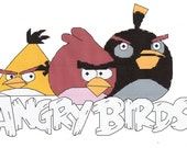 Angry Birds counted Cross Stitch Pattern