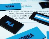 Magnetic words,  Argentine Slang - Surprising and original