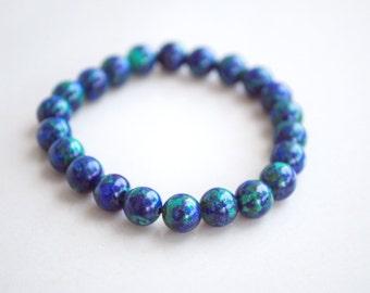 """Natural Simple Classic Designed """"Azurite"""" Bracelet"""