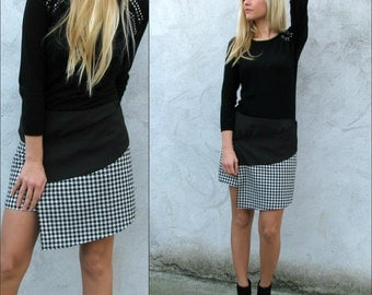 Wrap Around Pepito Checkered Mini Skirt