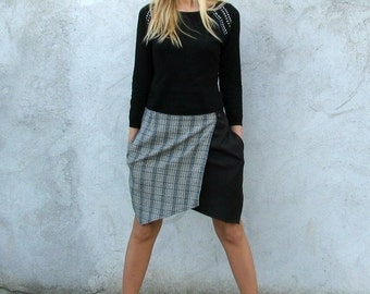Cutting Edge Asymmetrical Wrap Mini Skirt S/M