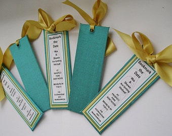 Save the Date/Wedding Favors, Wedding Announcements, Bookmarkers, Party Favors - (Custom Colors Available)