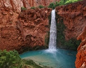 Landscape Photography Travel Photography Waterfall Photography Havasupai Grand Canyon Red Turquoise Wall Art Fine Art Photography Print