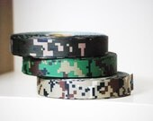 """5 YDs x 1"""" Camouflage Military Pattern Printed Grosgrain (3 Color Choices)"""