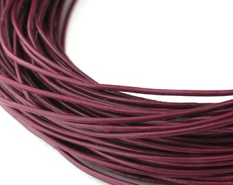 LRD0105023) 0.5mm Cyclaman Genuine Round Leather Cord.  1 meter, 3 meters, 5 meters, 10 meters, 18 meters.  Length Available.