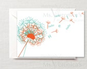 Dandelion Hello Card A6 Bright and fun - Forever Stamp Included