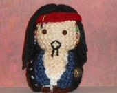 Captain Jack Sparrow Amigurumi Doll