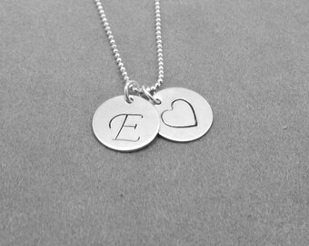 script initial necklace heart necklace letter e necklace initial jewelry heart charm necklace sterling silver jewelry all letters