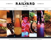 5 Page WIX Website Template - The Railyard Template - Web Design Package - Includes PreDesigned Vector Logo - Five Page Website Template