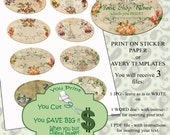 BUSINESS LABELS digital Collage 413 printable 8 ImaGeS identify your shop stickers tags thank you  Instant download arttoart