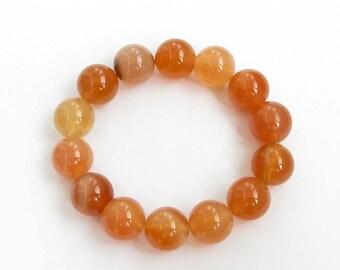 14mm Agate Beads Buddhist Wrist Japa Mala Bracelet For Meditation  T3151