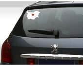 Vinyl Decal COUNTRY of BULGARIA vinyl sticker car decal custom home city love