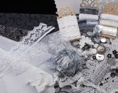 All that Glitters. Inspiration Kit And Embellishment Kit. Black, grays and white No 226