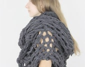 The Florham Oversized Scarf - Charcoal