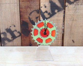 SALE  --  BIKE GEAR - Desktop Clock #3  /  50% Off