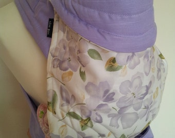 MEI TAI Baby Carrier / Sling  / Reversible / Floral Dreams II with Purple in  straight cut model