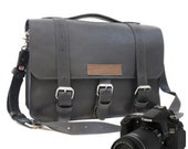 "14"" Black Sonoma Buckhorn Leather Camera Bag -"