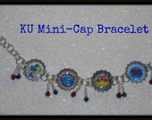 KU 5 Logo Mini Cap Bracelet University of Kansas