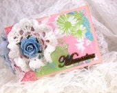 Small Photo Album, Memories Scrapbook, Grandma Brag Book, TP Mini Album
