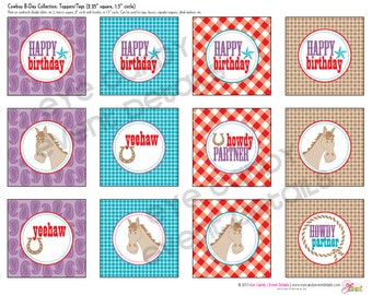 COWBOY Birthday Party - COWGIRL Birthday Party - Customized Birthday- western party - Printable Party Pack Collection