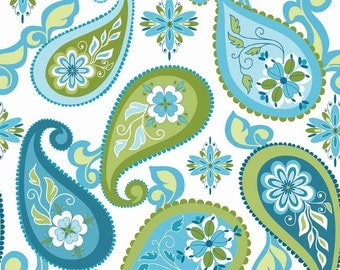 Lila Tueller for Riley Blake Designs - SPLENDOR - Paisley in Blue - Cotton Fabric