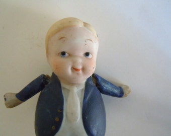Bisque Doll Fat Little Man Nippon Collectible