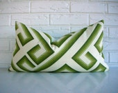 Olive Green Geometric Throw Pillow Cover - Mid Century Modern Decor