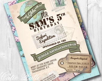 Jungle Safari Invitations | Safari Invitation | Jungle Invitation | Jungle Party Invite | Safari Jungle Invite | Safari Theme