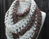 Crochet Pattern Infinity Scarf REVERSABLE Cowl Neckwarmer Circle Scarf INSTANT pdf DOWNLOAD