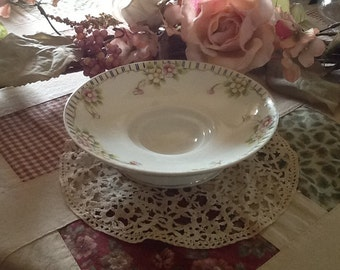 Nippon Gold Floral Bowl Antique 1800's Porcelain SALE