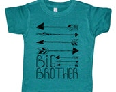 Big Brother Arrows Kids T Shirt - Baby and Toddler Boys Clothing - Boys Native America / Archery Shirt - Boys Big Brother Top