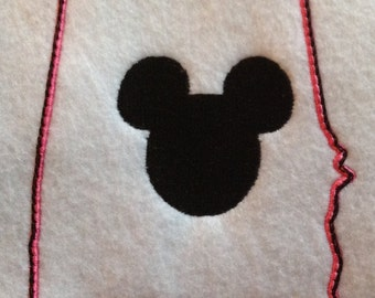 INSTANT download ALABAMA state outline with Mickey Mouse embroidery/applique design  4x4  5x7  6x10