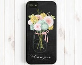 Chalkboard iPhone 6 Case, Flower Vase, Personalized First Name, iPhone 6 plus, 5s 5c 5 4s Case, Samsung Galaxy s5 s4 s3, Note 3 Case ch46