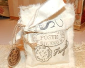 Paris French sachets Hand Stamped-bundles