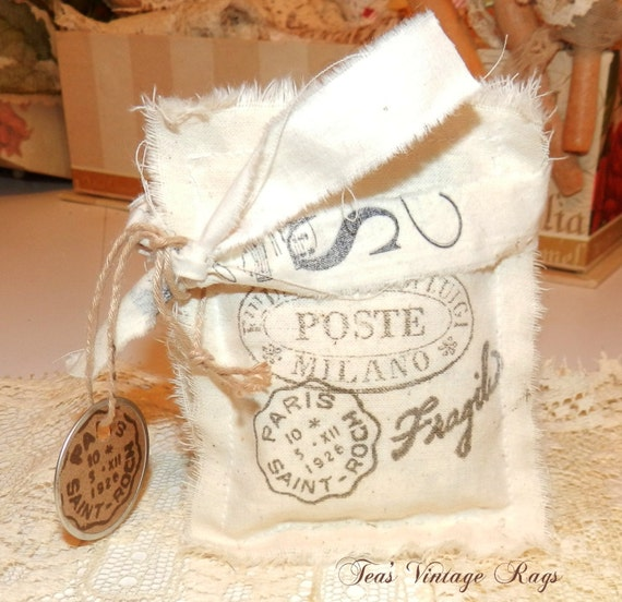 Paris French Sachets Hand Stamped Bundles By Teashopechest