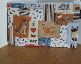 Zippered Pouch - Cats