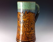 A Large Oak Leaf Tankard