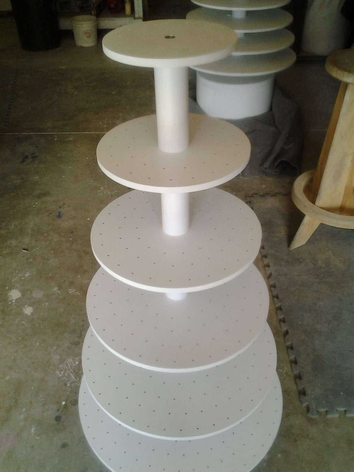 6 Tier Large Adjustable Round Cake Pop Or Cupcake Stand Can