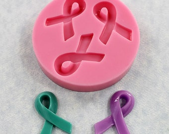 Awareness Ribbon Mold Silicone Mould Resin Polymer Clay Fondant Candy Wax (340)
