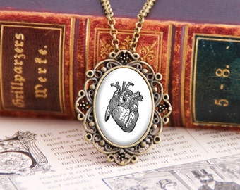Anatomical Heart - Victorian Necklace