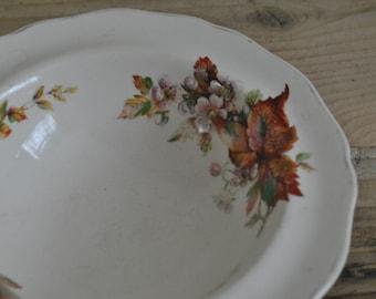 Vintage Royal Doulton Wilton D6226 floral china shallow decorative bowl - Retro - Country Cottage - Chic