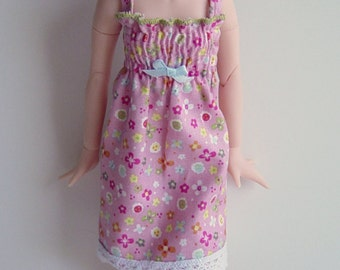 Azone Pure Neemo/ Monster High Doll/ MHD Multi Colored Floral Strappy Shirred Sundress