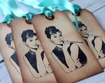 Vintage Inspired Tags - Audrey Hepburn - Set of 5